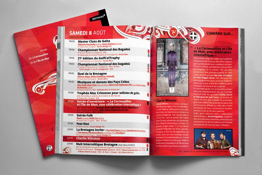 Intérieur du petit programme du Festival interceltique 2015
