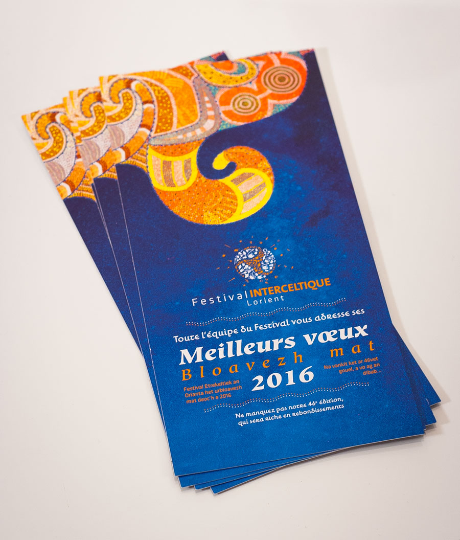Cartes de vœux 2016 du Festival Interceltique