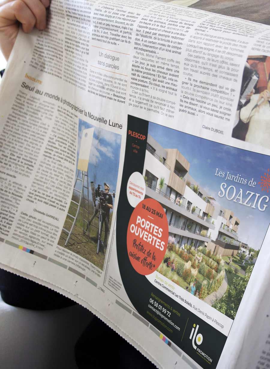 Encart presse Ilo promotion Jardins de Soazig à Plescop