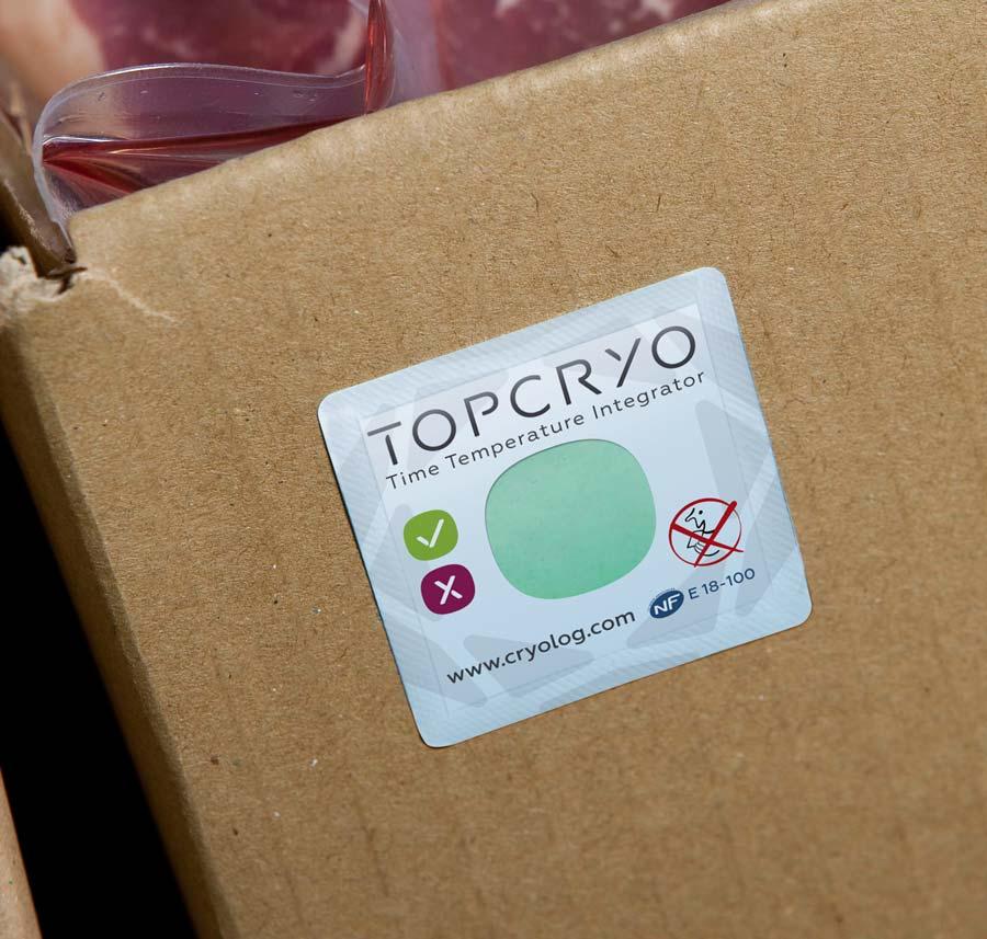 Design de l'étiquette TOPCRYO