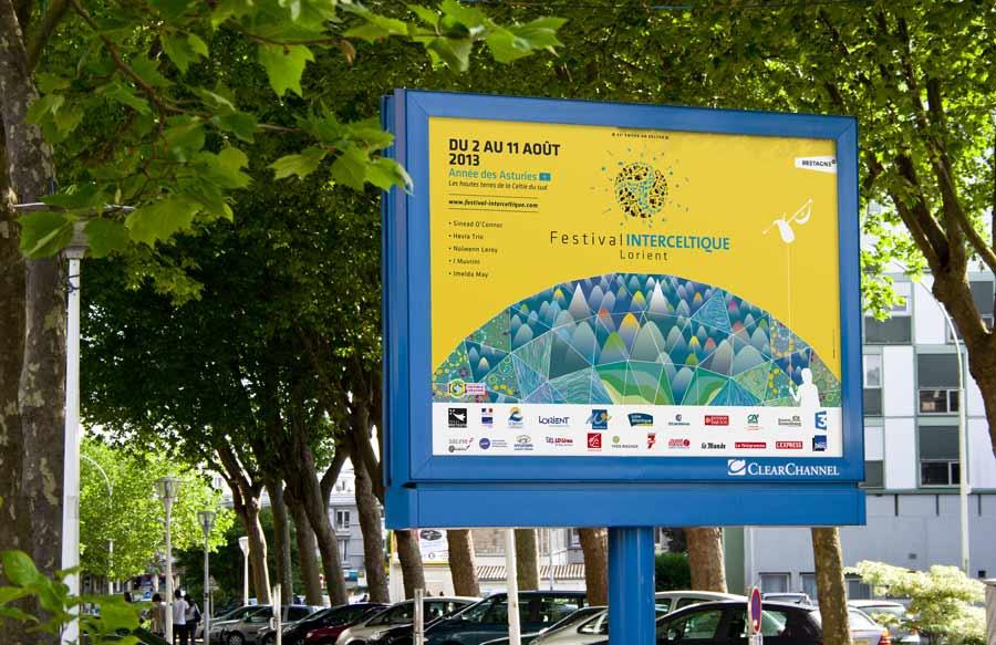 Affiche 2013 du Festival Interceltique de Lorient au format 4x3