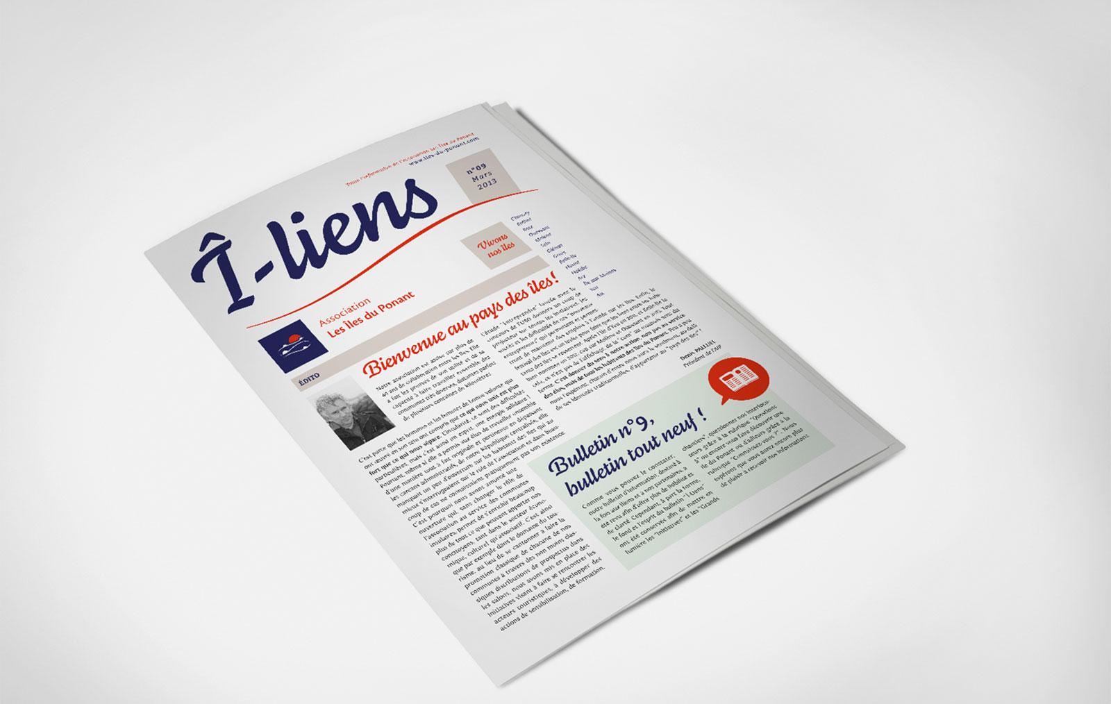 Couverture du magazine Î-liens de l'Association Les Îles du Ponantles
