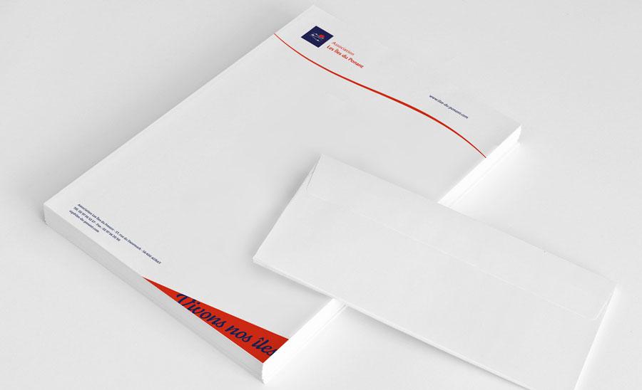 Papier en-tête de l'Association Les Îles du Ponant