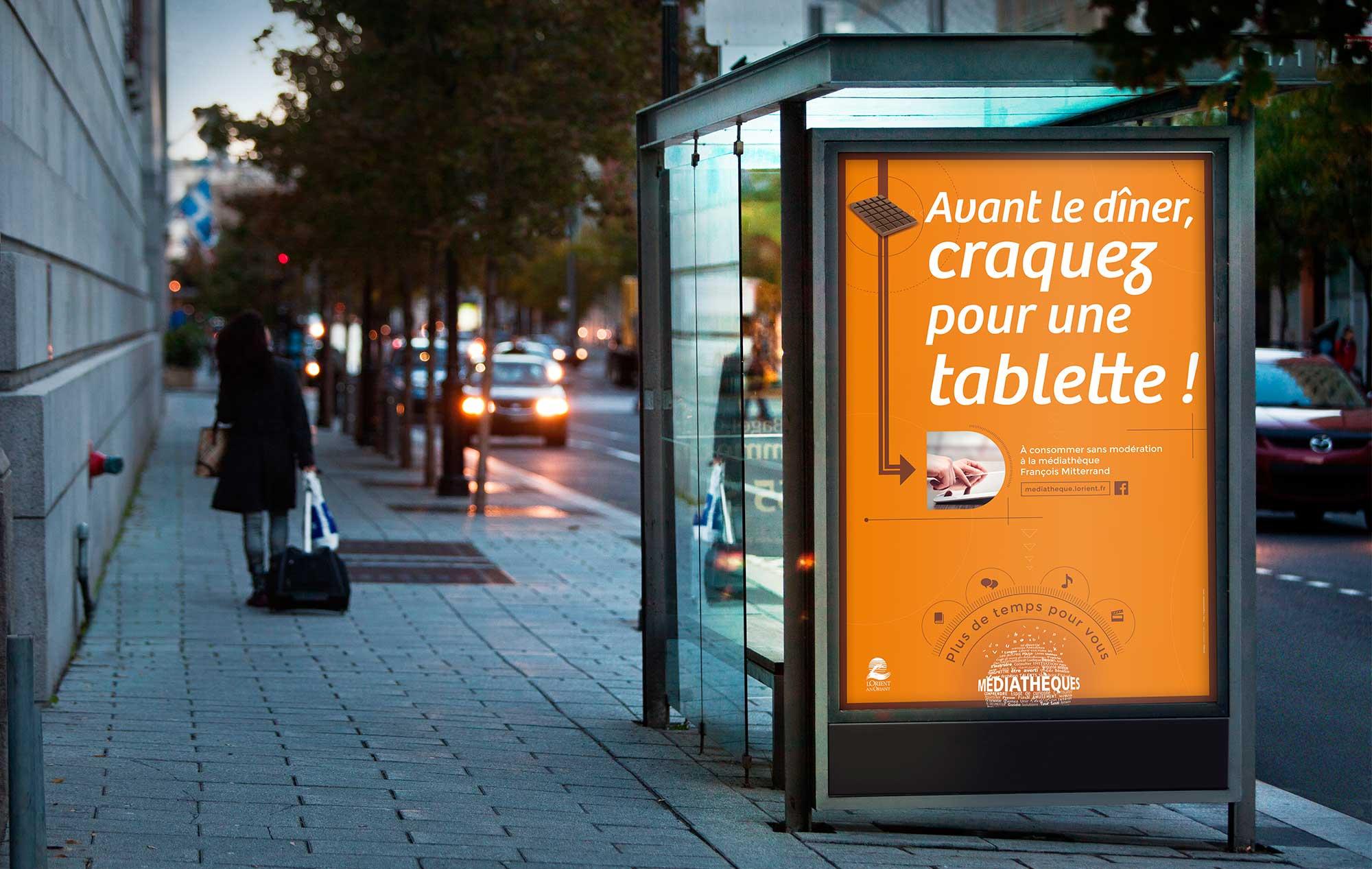 Affiche 120x176 Pour la médiathèque de Lorient