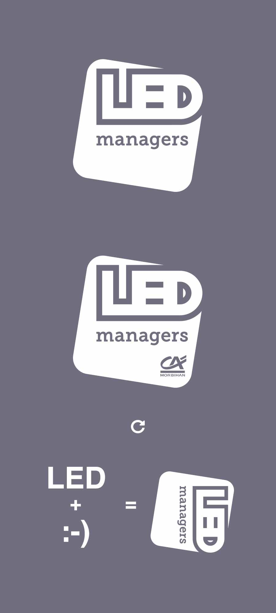 différentes versions du logo LED managers et explication