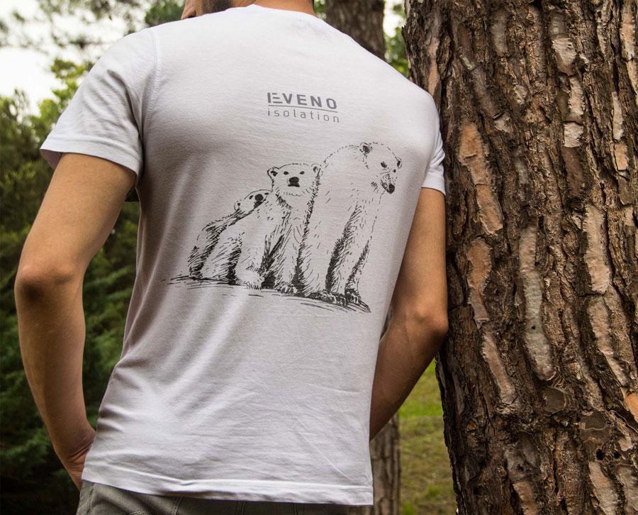 T-shirt pour les équipes d'Eveno Isolation