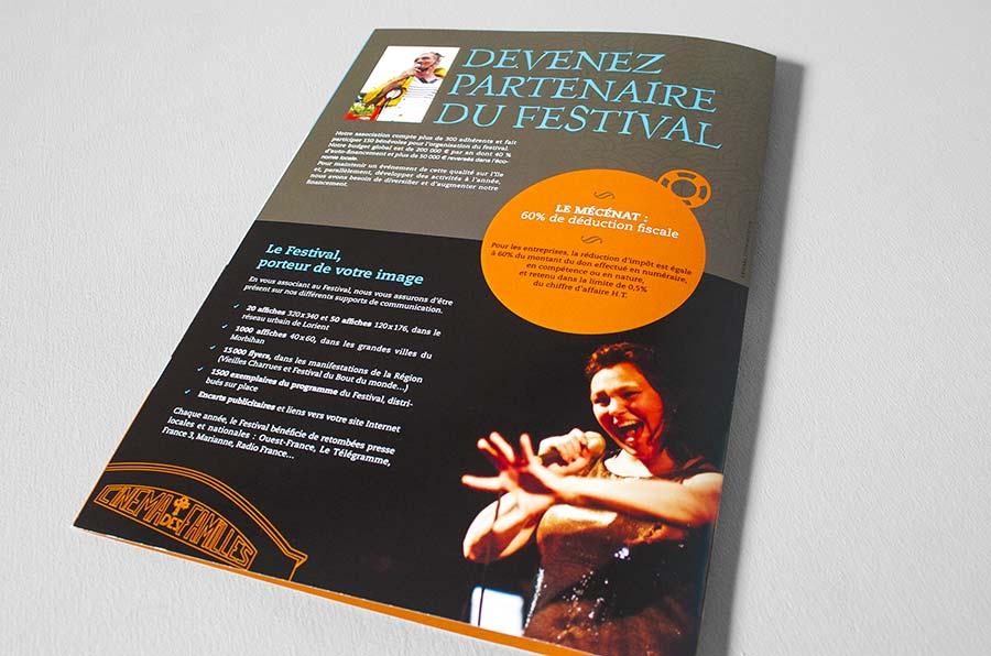 Dos de la plaquette du festival International du film insulaire - FIFIG