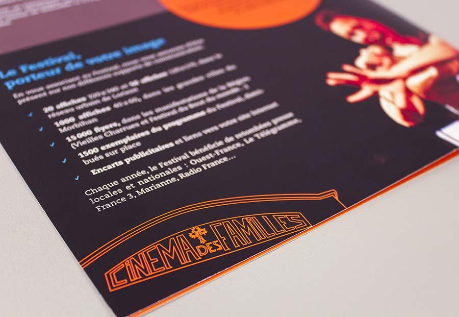 détail de l'arrière de la plaquette du festival International du film insulaire - FIFIG