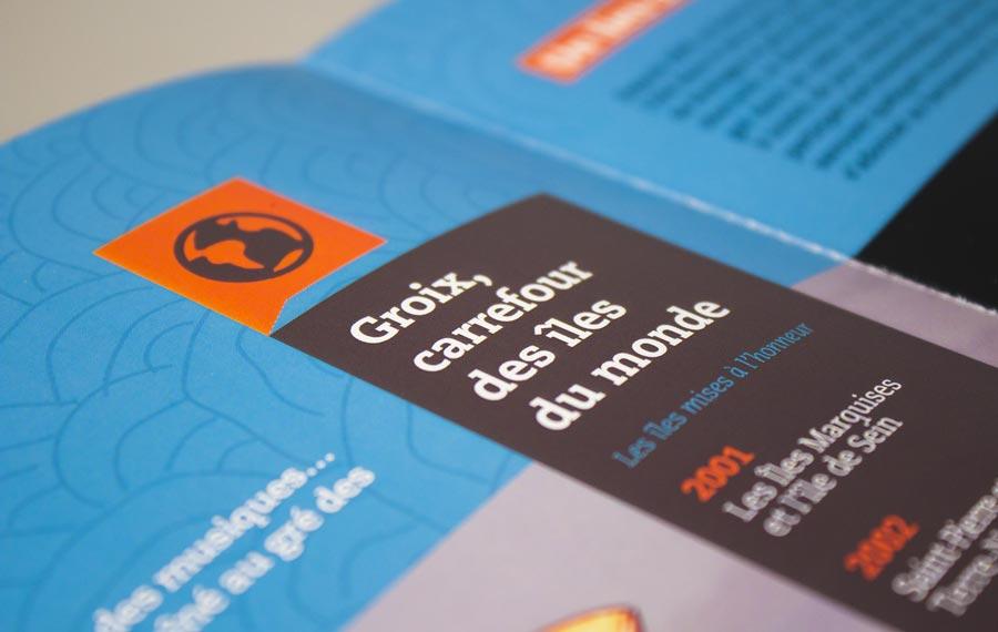 Détail de l'intérieur de la plaquette du festival International du film insulaire - FIFIG