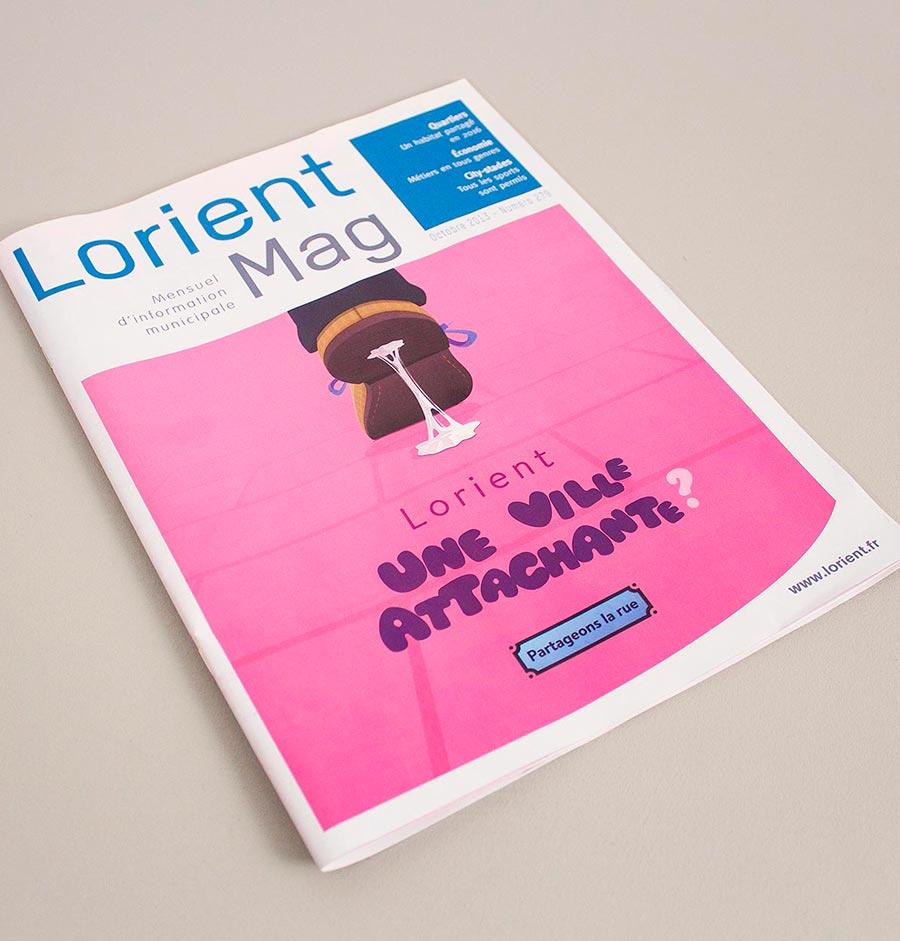 Couverture du Lorient Mag octobre 2013 - n° 279