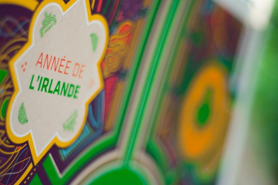 Détail de l'affiche du Festival Interceltique 2014 - année de l'Irlande
