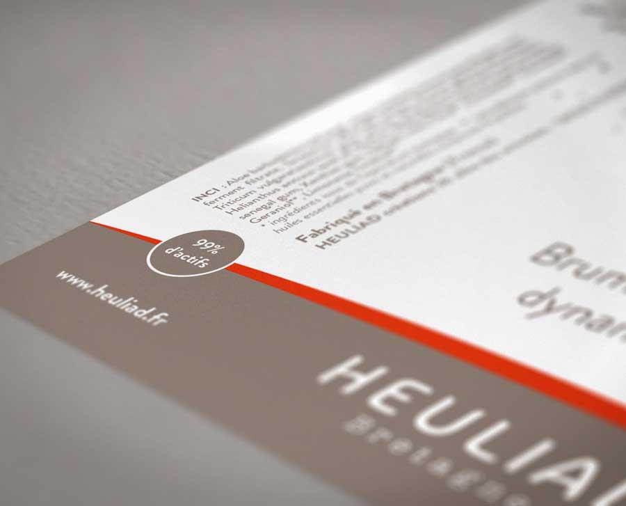 Détail d'un étiquette d'un produit Heuliad