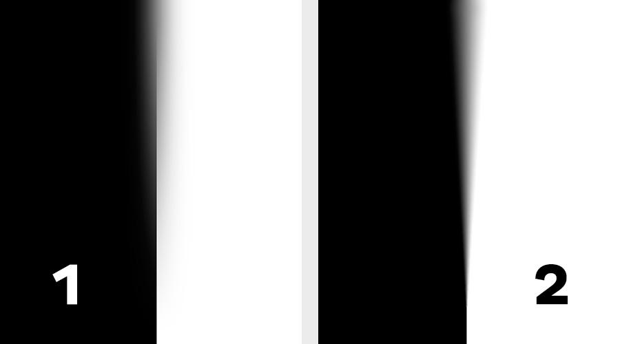 Le flou 1 correspond à un flou gaussien avec masque d'opacité et le 2 est un flou de profondeur de champ.