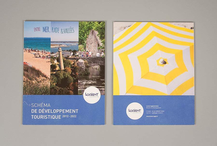 Couverture et quatrième de couverture du schéma de développement touristique de Lorient Agglomération