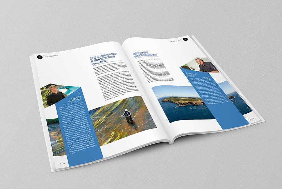exemple de pages intérieures du schéma de développement touristique de Lorient Agglomération