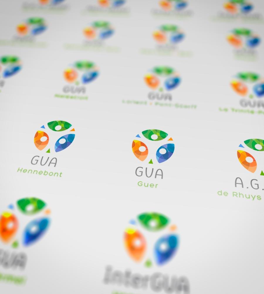 19 déclinaisons du logo Rés' Agri ont été réalisées pour les différents groupe de développement.