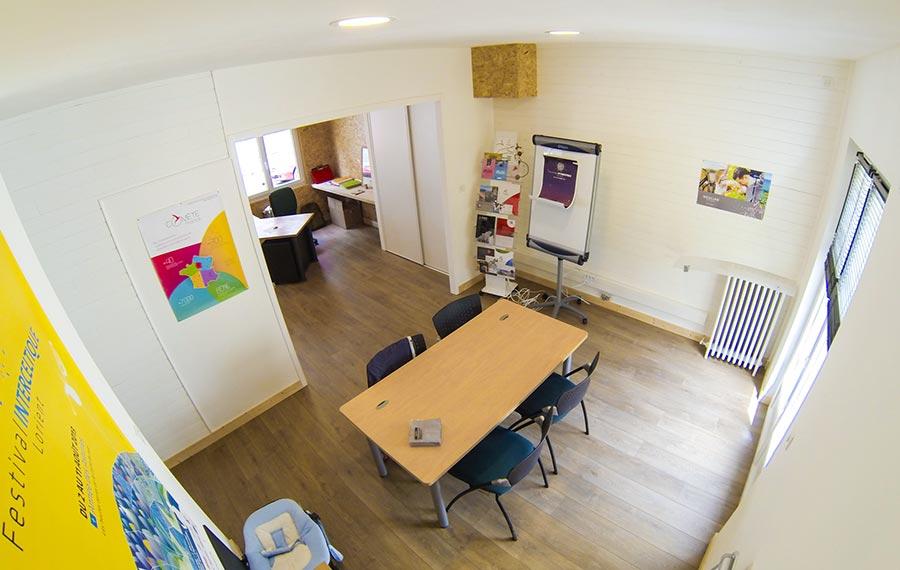 La salle de réunion des nouveaux bureaux d'Orignal communication