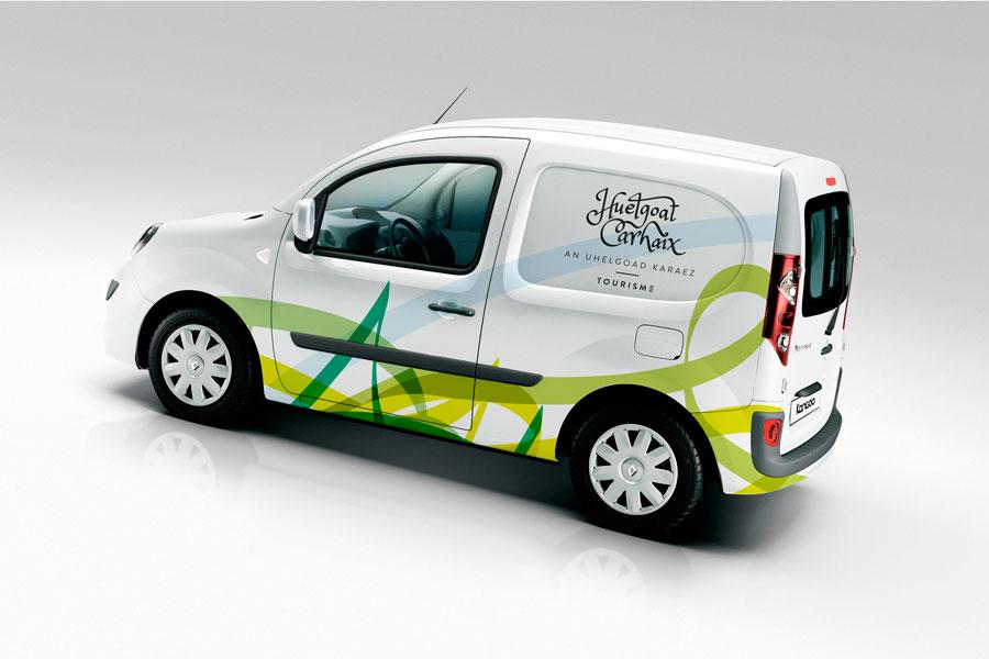Habillage d'un véhicule de Huelgoat Carhaix Tourisme