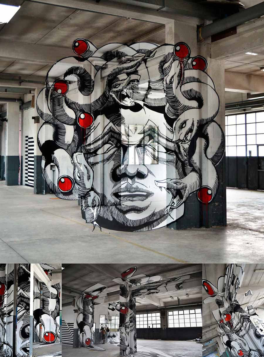 """Gorgone Medusa"". © Mach505 et Ninja1 du collectif Truly design (2011)"
