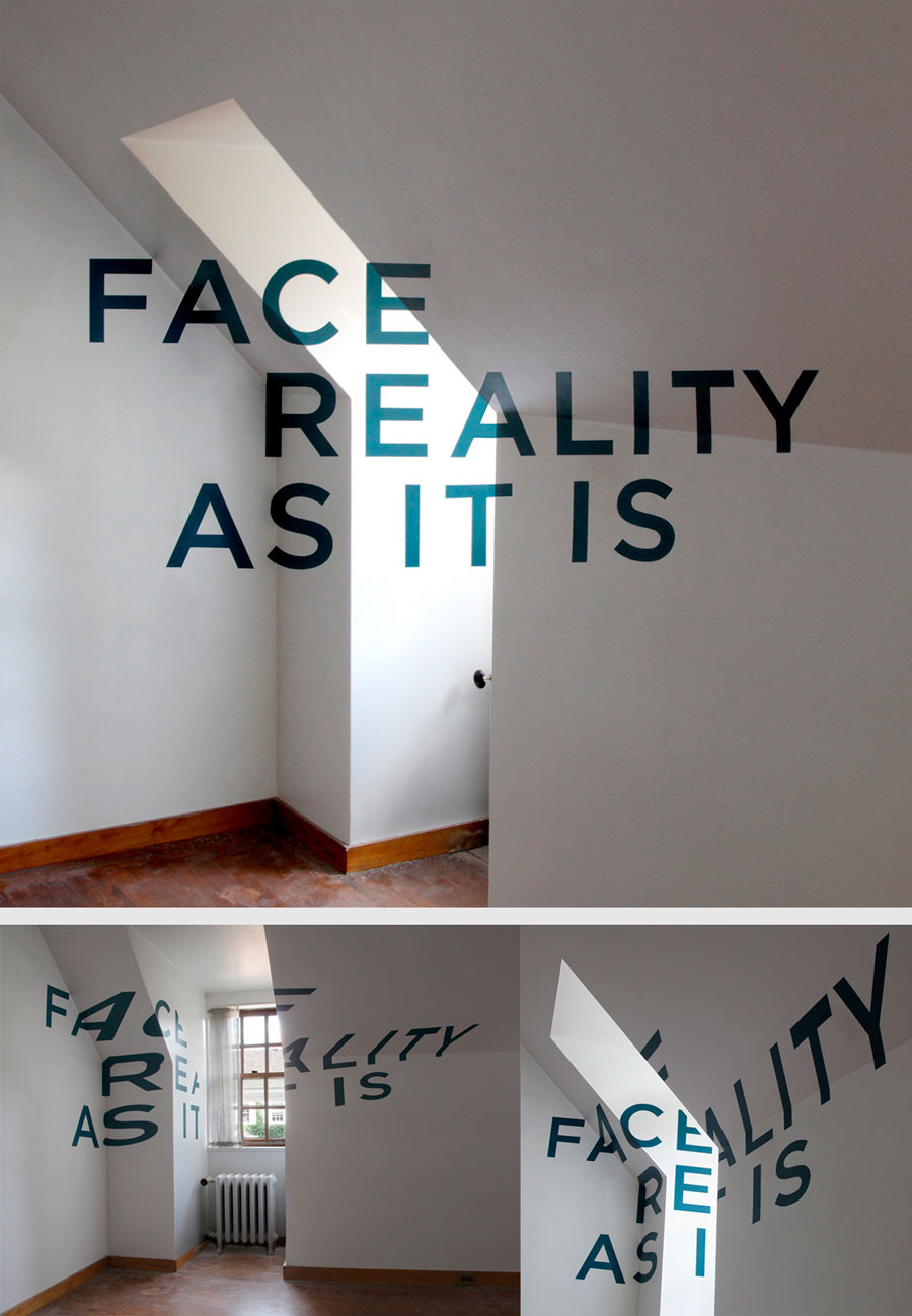 """Face Reality as it is"". Thomas Quinn (2010)"
