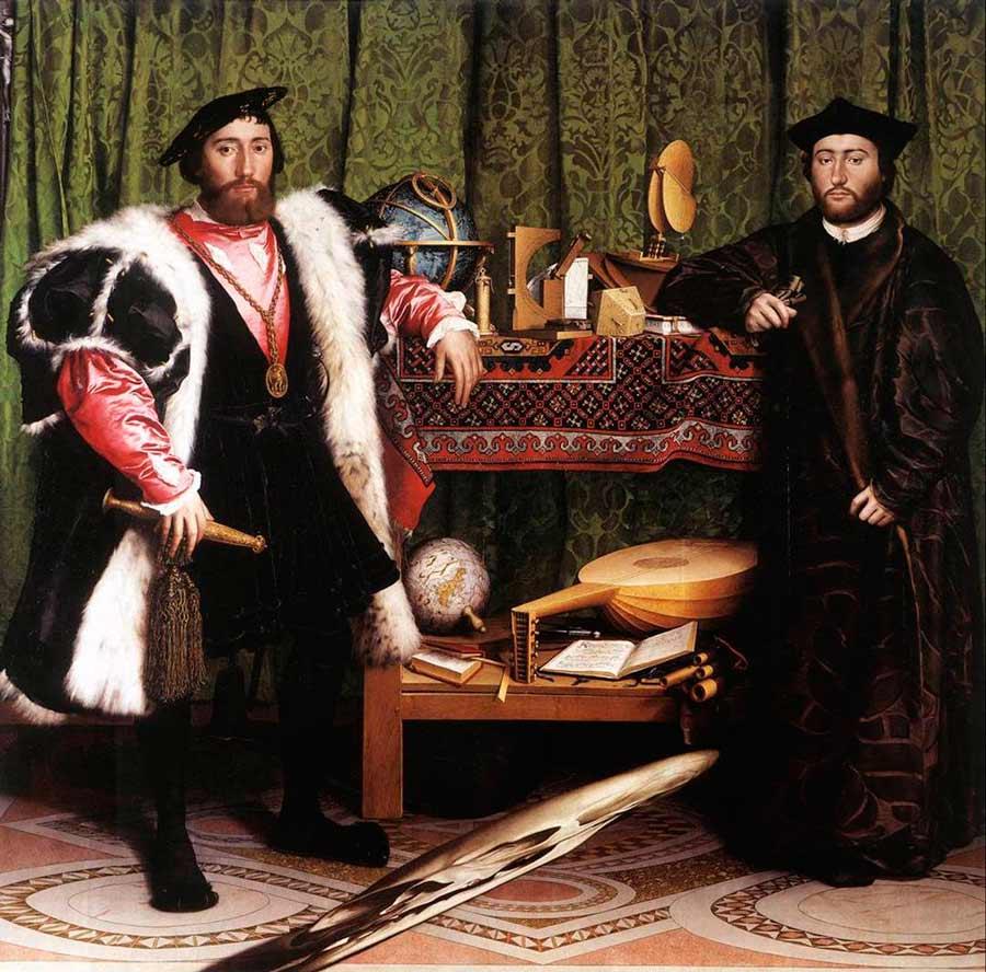 Les Ambassadeur de Hans Holbein (1533).