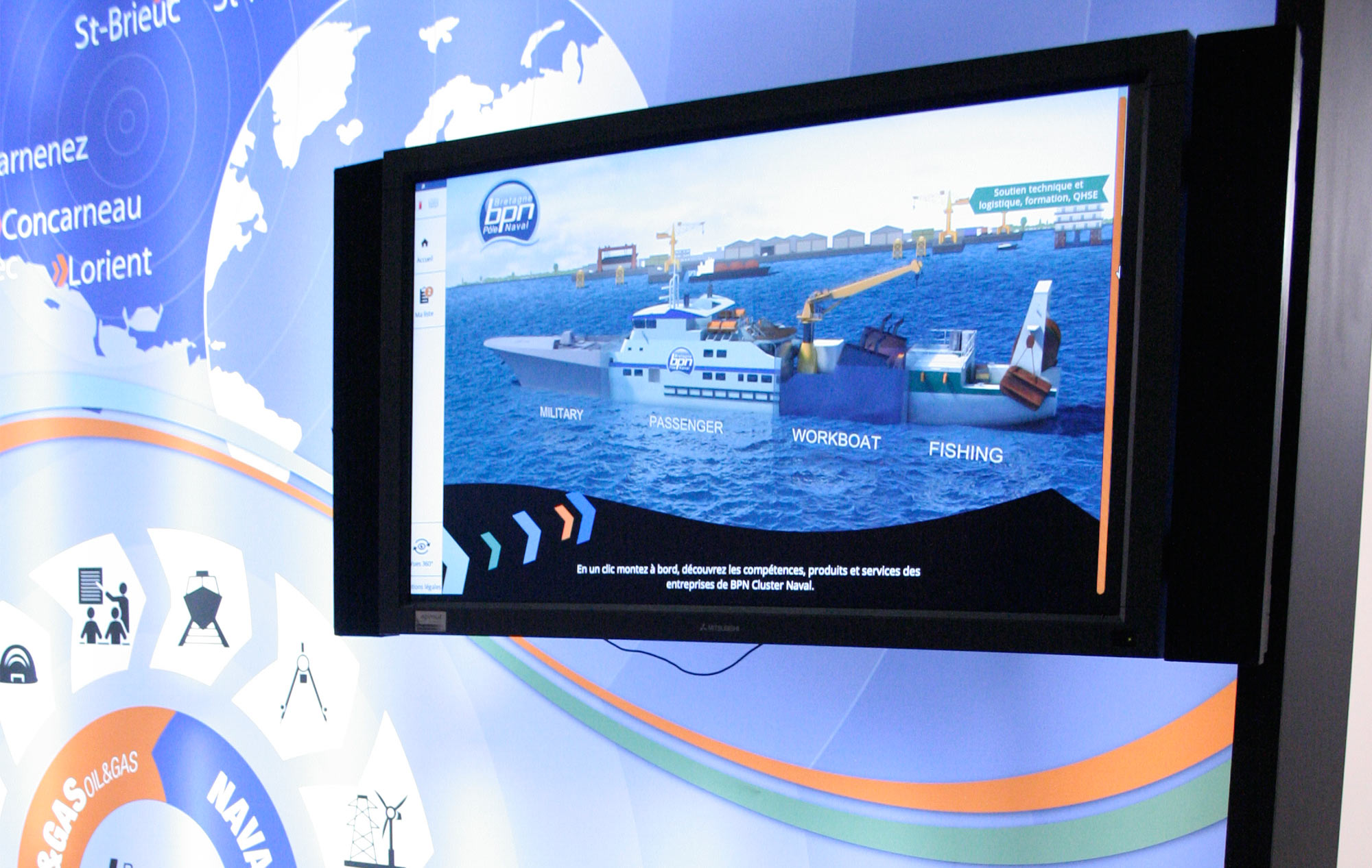 Maquette numérique de Bretagne Pôle Naval