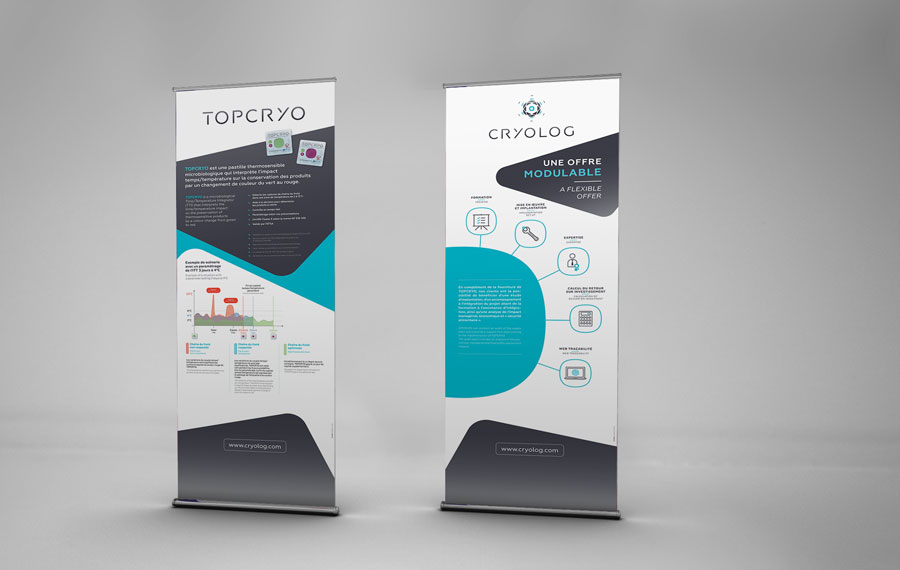Création de deux Rollup pour le stand Cryolog