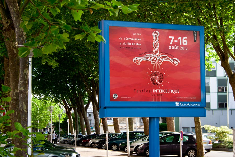 Affichage 4x3 du Festival Interceltique 2015