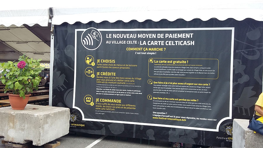 Mise en place du paiement dématérialisé au Festival Interceltique de Lorient grâce à Monélio.