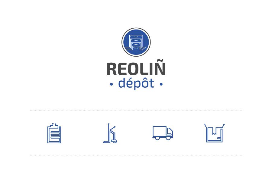 Logo et pictogrammes Reoliñ Dépôt
