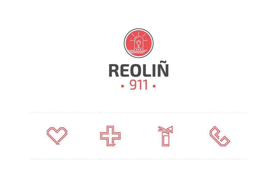 Logo et pictogrammes Reoliñ 911
