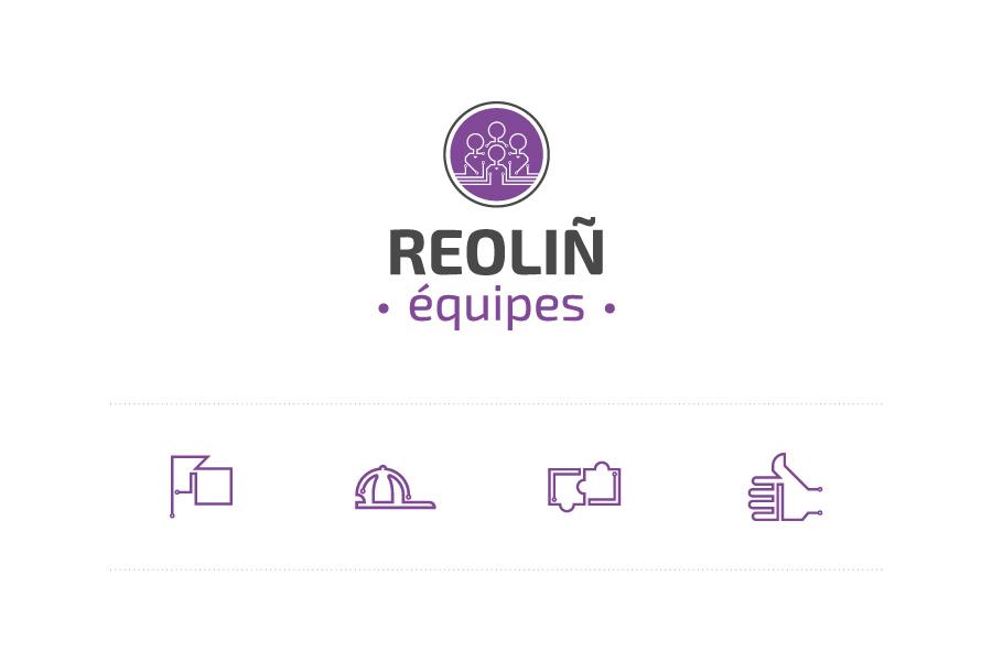 Logo et pictogrammes Reoliñ Équipes