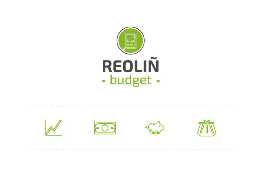 Logo et pictogrammes Reoliñ Budget