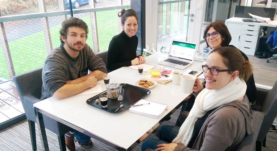 De Gauche à droite : Quentin Vuilleret, Catherine Radenac, Marion Baron et Bénédicte Salmon
