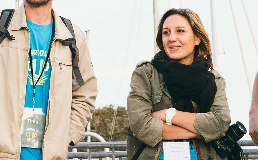 Lea Krysiecki en photographe pour la Coriolis Cup à Groix