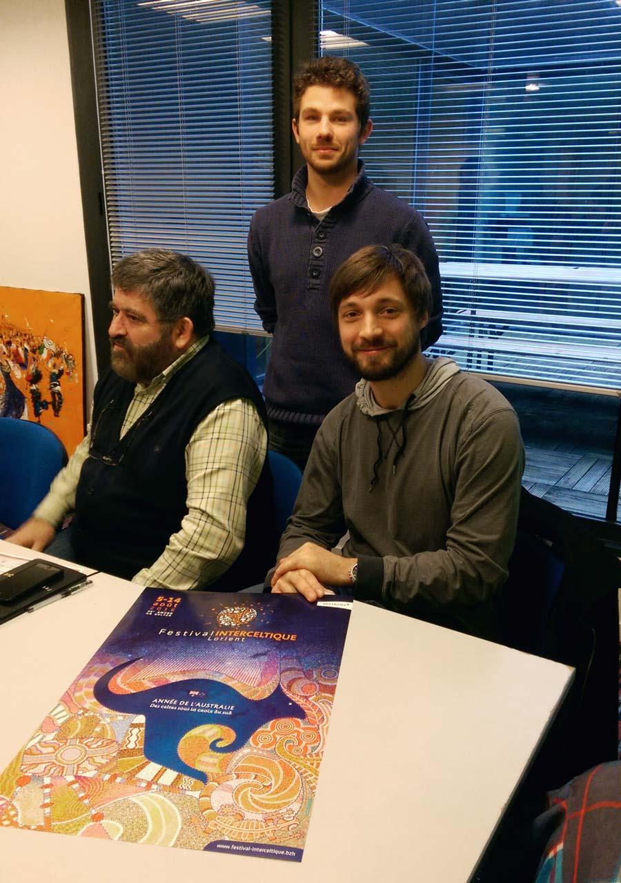 De gauche à droite : Lisardo Lombardia, Quentin Vuilleret et Joris Tricoire