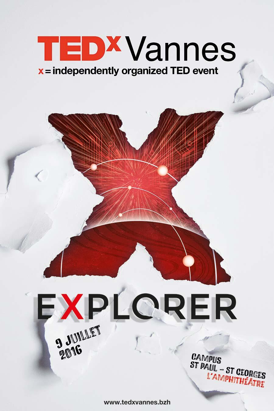 Affiche Tedx Vannes 2016