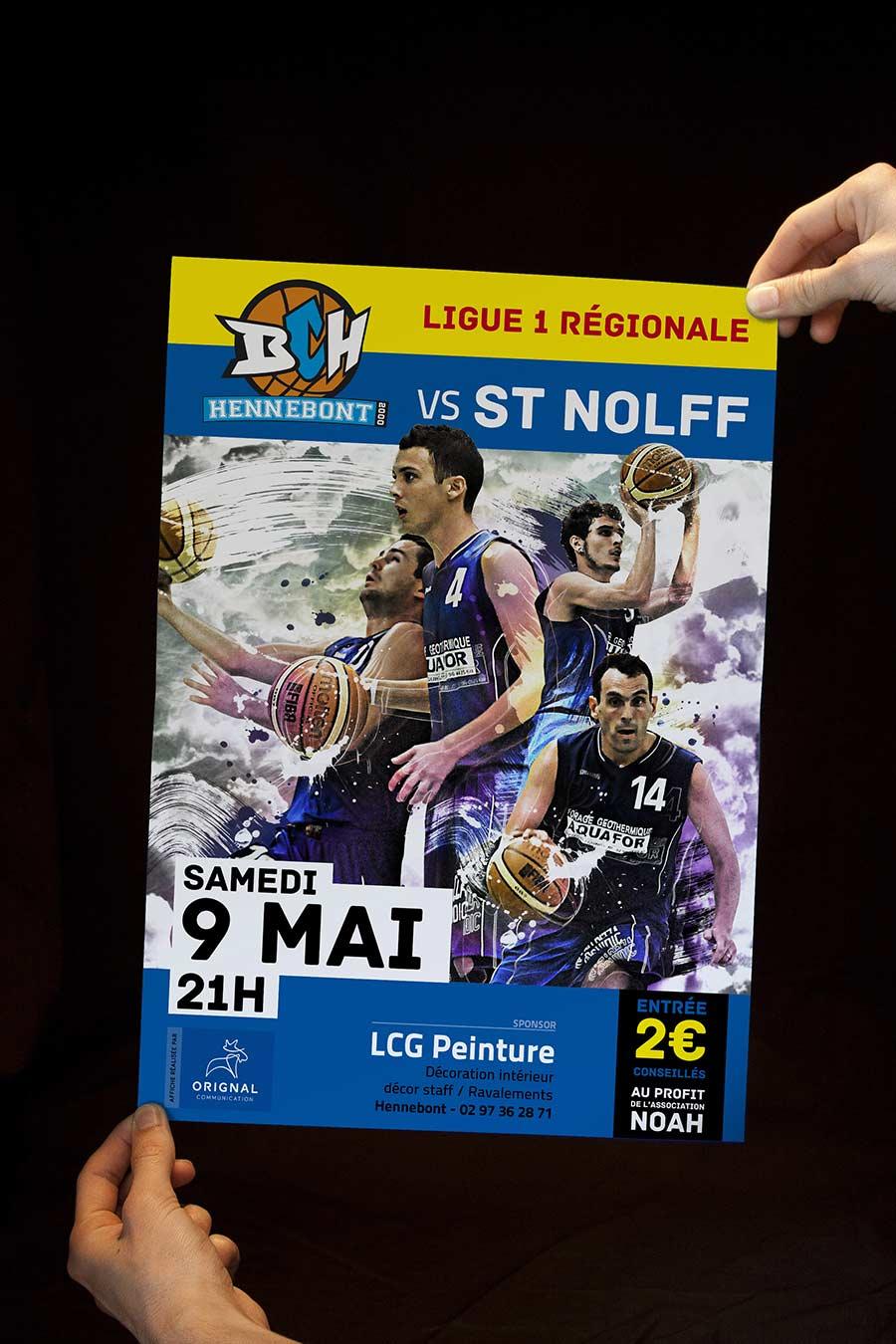 Affiche du Basket Club d'Hennebont