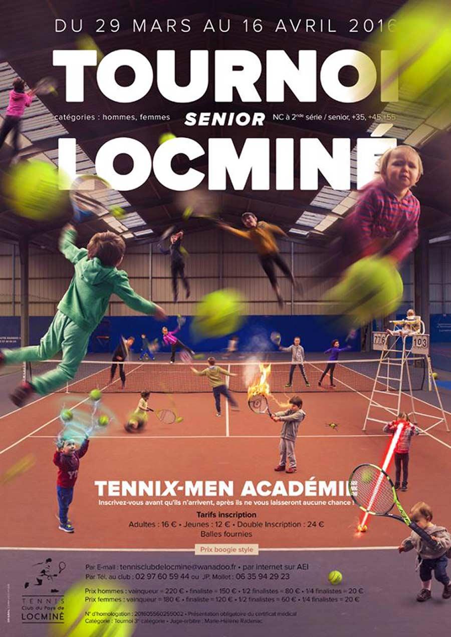 Affiche tennis club de Locminé