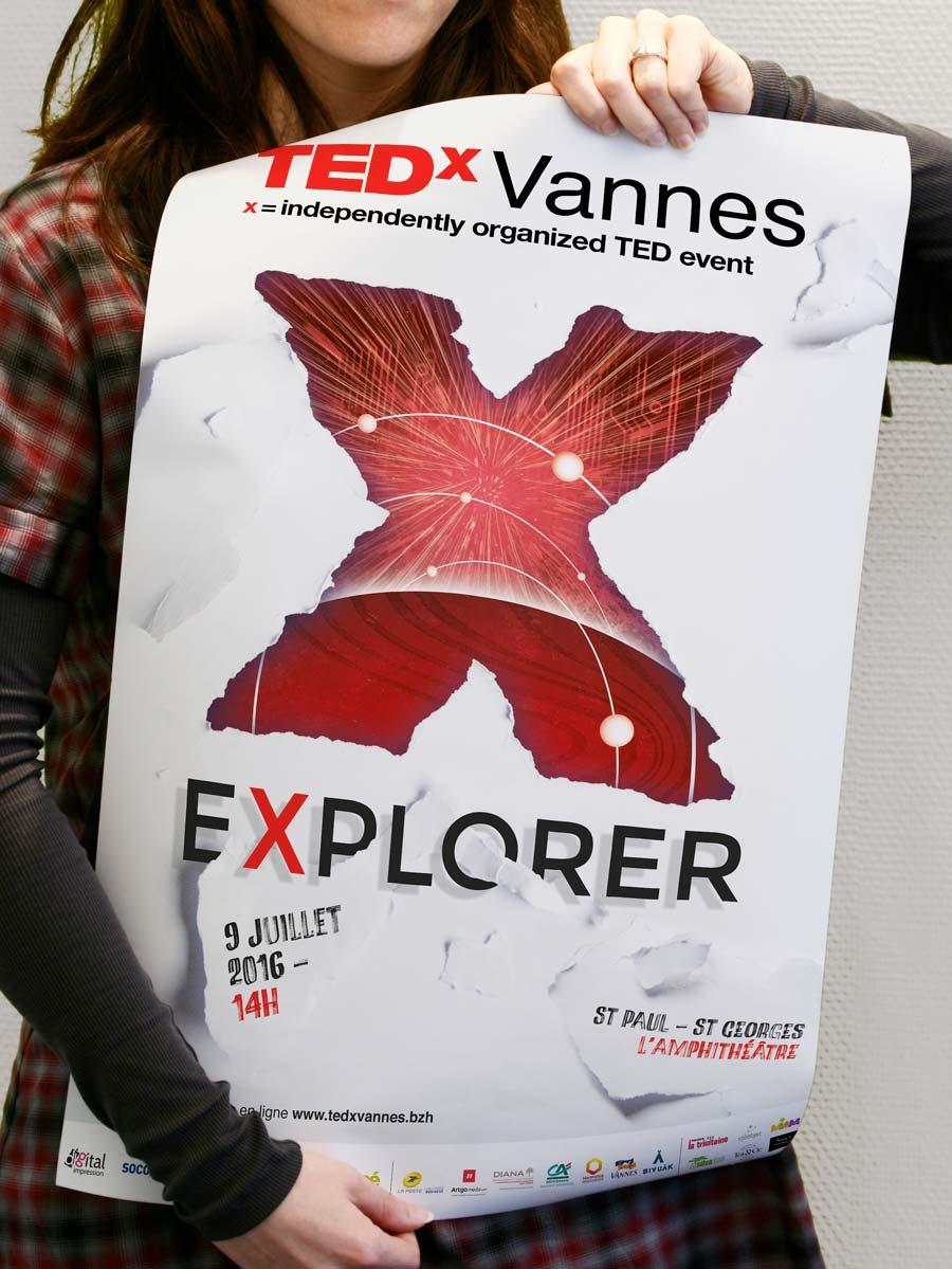Affiche 40x60 Tedx Vannes