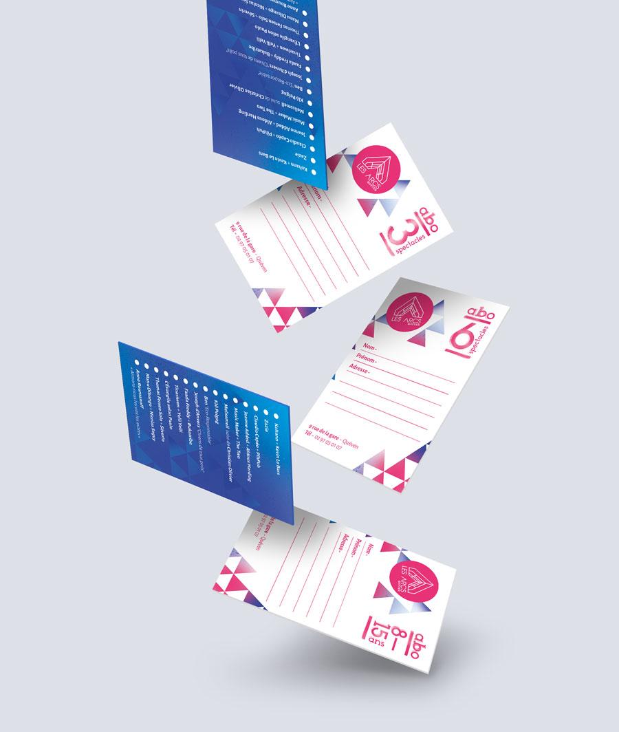 Les cartes d'abonnement des Arcs