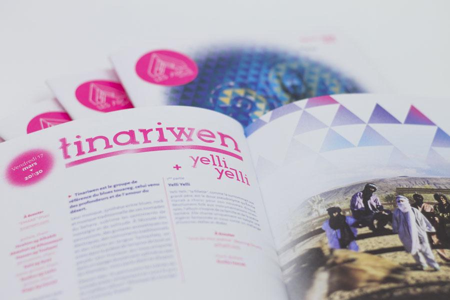 Page Tinariwen du programme des Arcs