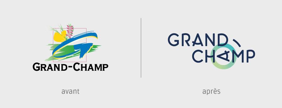avant / après logo Grand-Champ