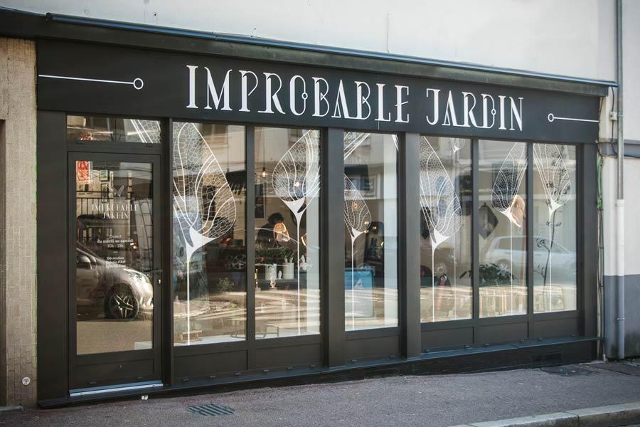 Façade du magasin Improbable Jardin