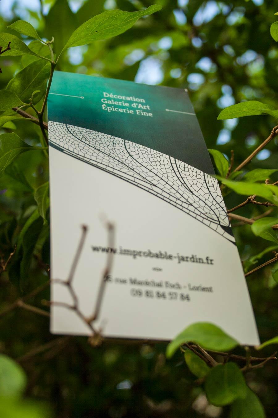 Verso du marque-page Improbable Jardin