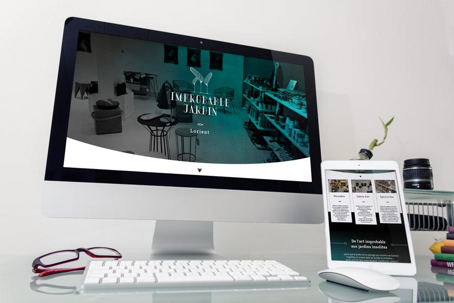 Site web Improbable Jardin