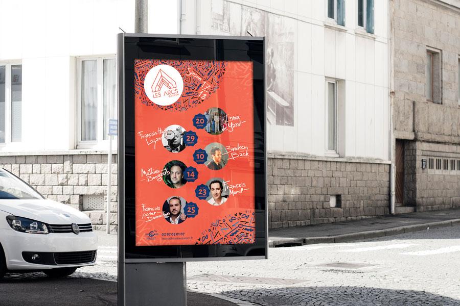 Affiche-abris-bus - Queven Les Arcs 2017