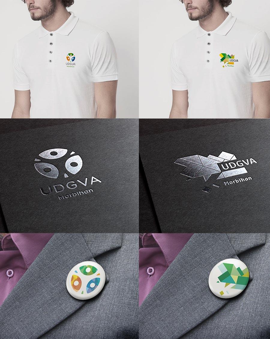 Pésentation de logo sur mockup