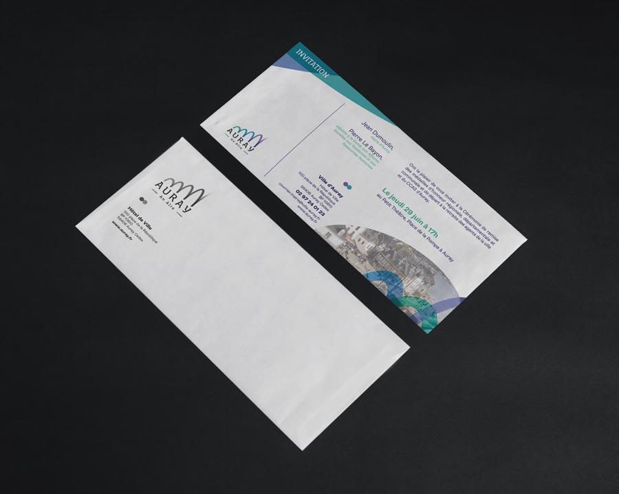 Auray invitation et enveloppe
