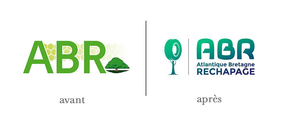 Avant/après du logo ABR